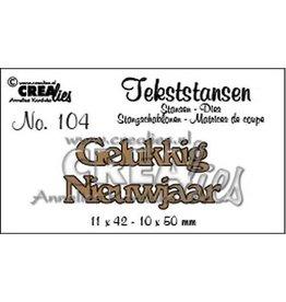 Crealies Crealies Tekststans no. 104 Gelukkig Nieuwjaar (NL) 11x42mm-10x50mm / CLTS104