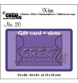 Crealies Crealies X-tra no. 20 cadeaukaart met schuifsysteem CLXtra20