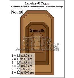 Crealies Crealies Labelzz & Tagzz no. 16 CLLT16