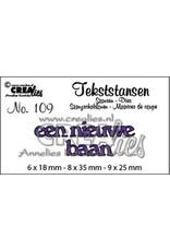Crealies Crealies Tekststans no 109 een nieuwe baan (NL) CLTS 109