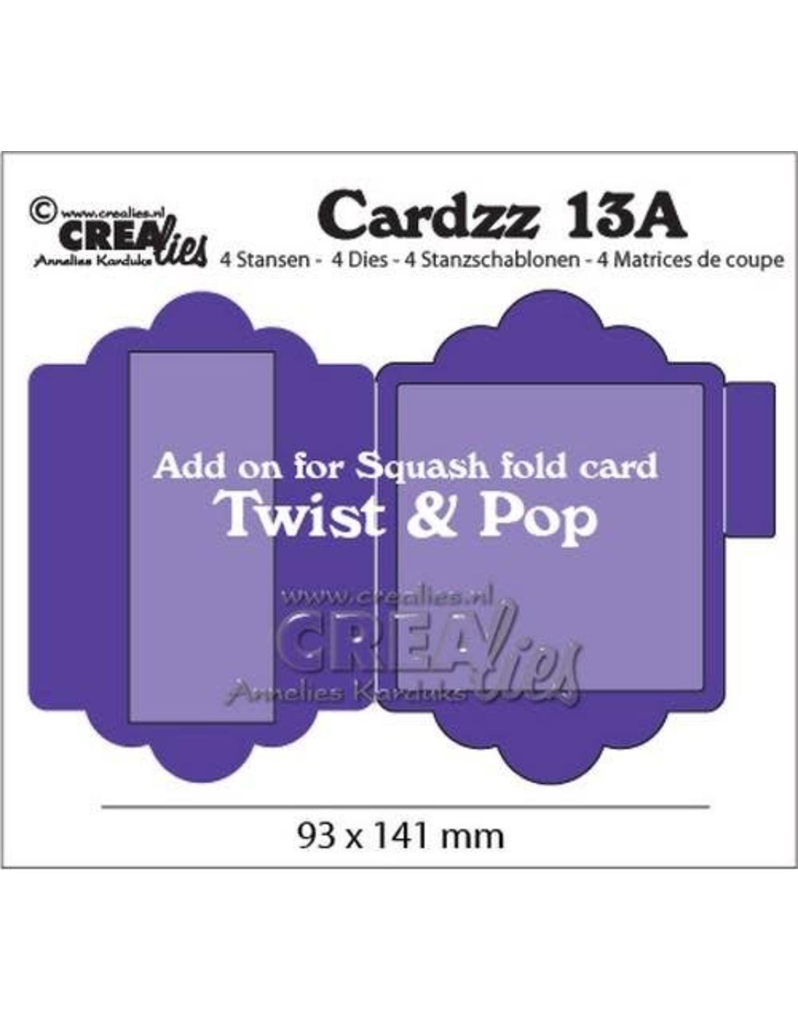 Crealies Crealies Cardzz nr 13A add on for CLCZ13: Twist & Pop CLCZ13A