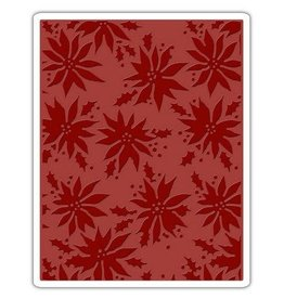 Crealies Sizzix Texture Fades Embossing Folder Poinsettias 662433 Tim Holtz