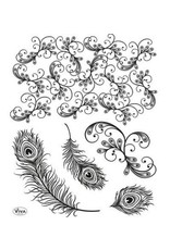 Viva Decor Viva Decor silikonen stempel peacock feathers 4003 108 00