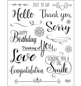 Viva Decor Viva Decor Clear Stamps Just to say 403 156 00