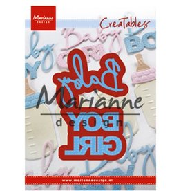 Marianne Design Marianne Design Creatable Baby text boy & girl LR0576