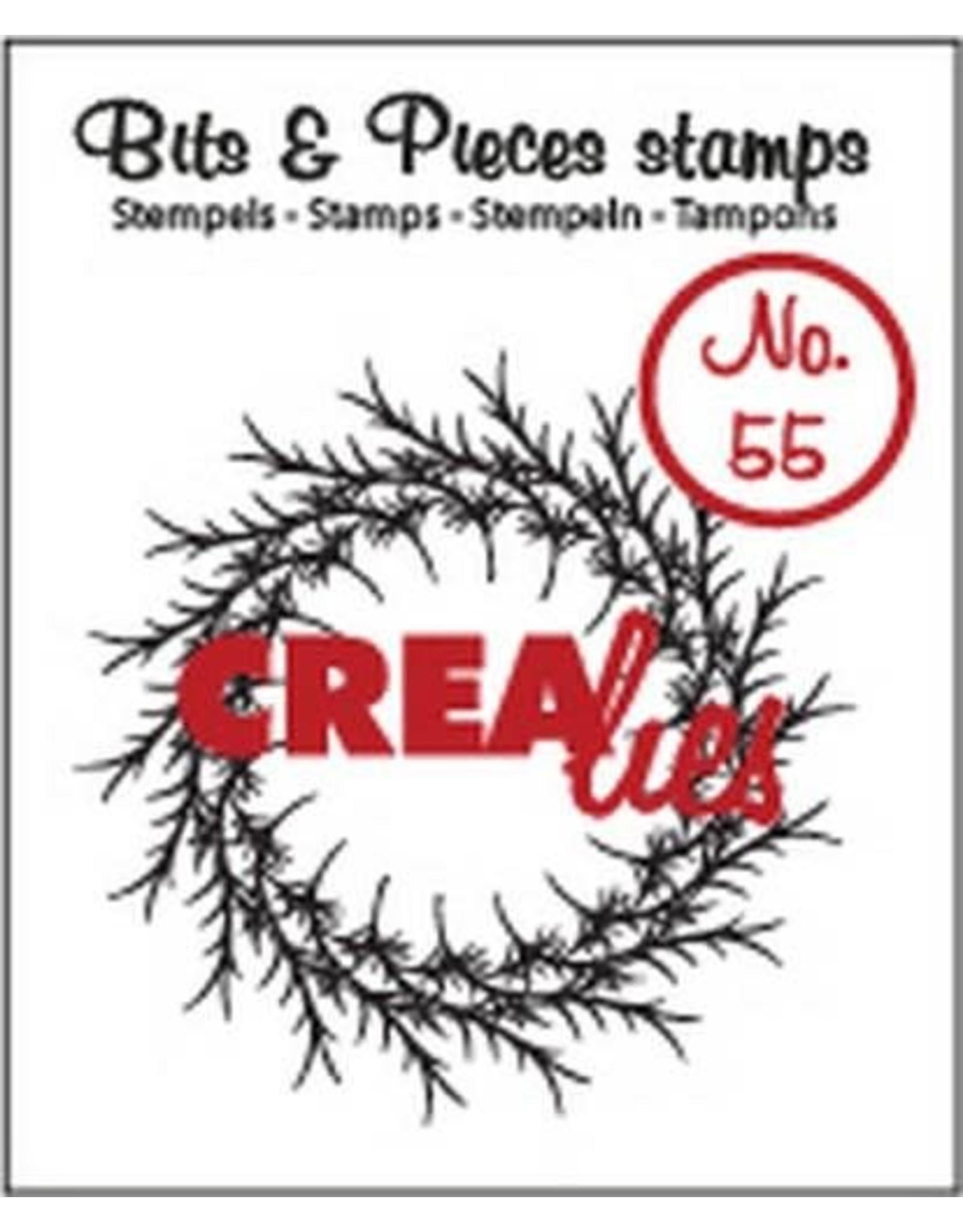 Crealies Crealies Clearstamp Bits&Pieces no. 55 krans