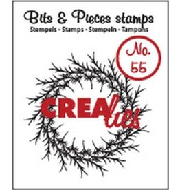Crealies Crealies Clearstamp Bits&Pieces no. 55 krans