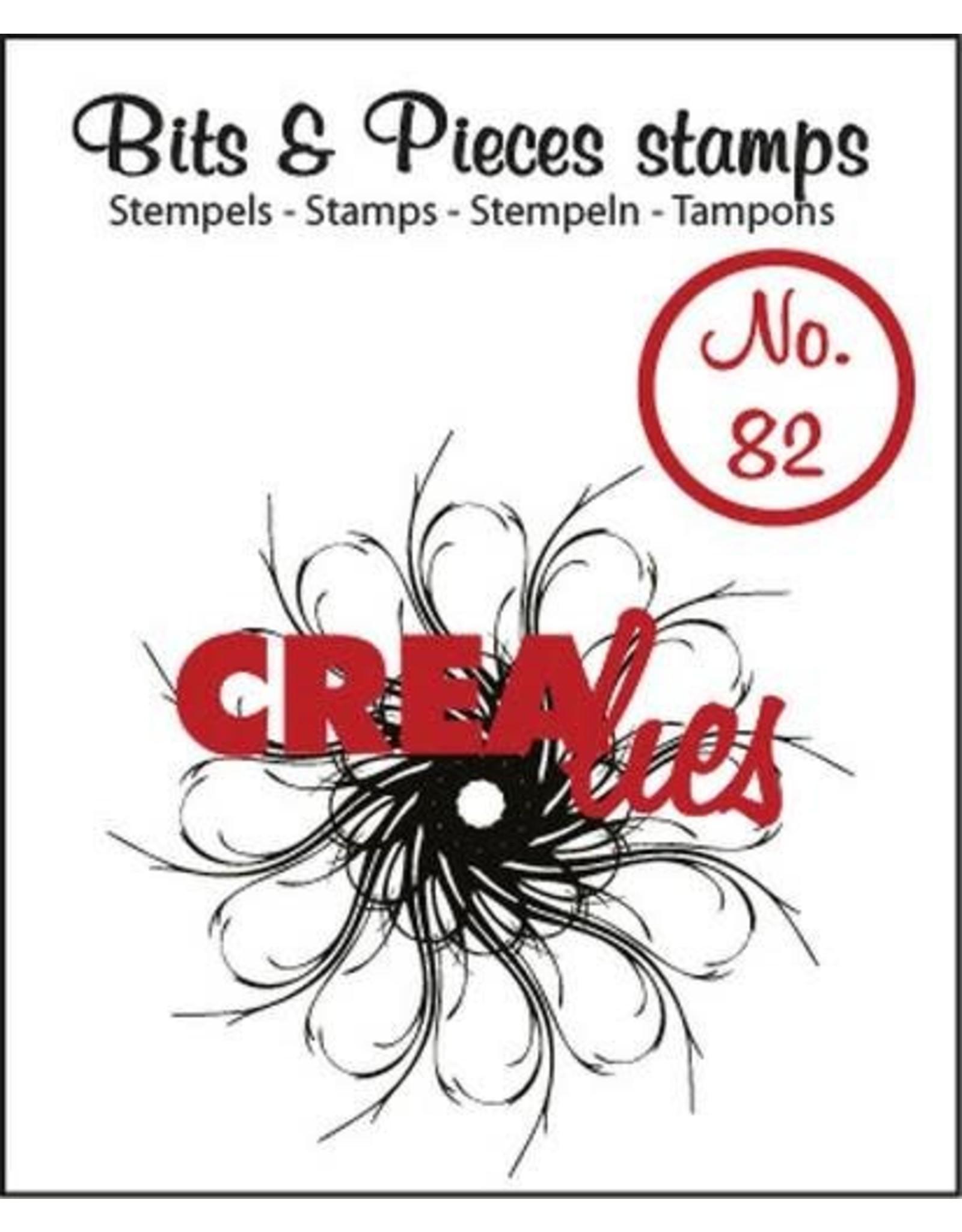 Crealies Crealies Clearstamp Bits&Pieces no. 82 Circle of swirls