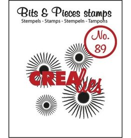 Crealies Crealies Clearstamp Bits&Pieces no. 89 4x sun