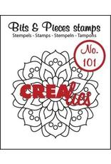 Crealies Crealies Clearstamp Bits&Pieces no. 101 Mandala