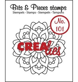 Crealies Crealies Clearstamp Bits&Pieces no. 101 Mandala