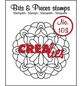Crealies Crealies Clearstamp Bits&Pieces no. 103 Mandala C