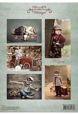 Nellie's Choice Nellie's Choice   Decoupage sheets A4 - Vintage Boys NEVI055