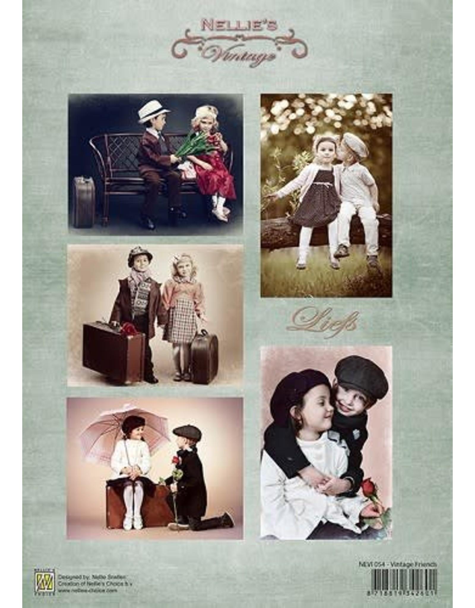 Nellie's Choice Nellie's Choice Decoupage sheets A4 - Vintage Friends NEVI054