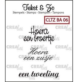 Crealies Crealies Clearstamp tekst & zo BA06