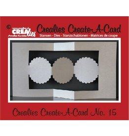 Crealies Crealies Create A Card no. 15 stans voor kaart CCAC15 / 13,5 cm x 26 cm