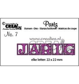 Crealies Crealies Partz no. 7 letters JARIG CLPartz07