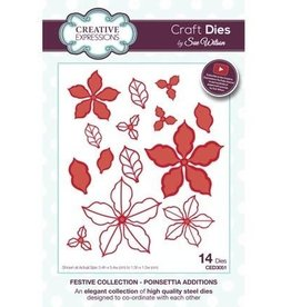Creative Expressions Creative Expressions Festive Colletion Poinsettia Additions CED3051