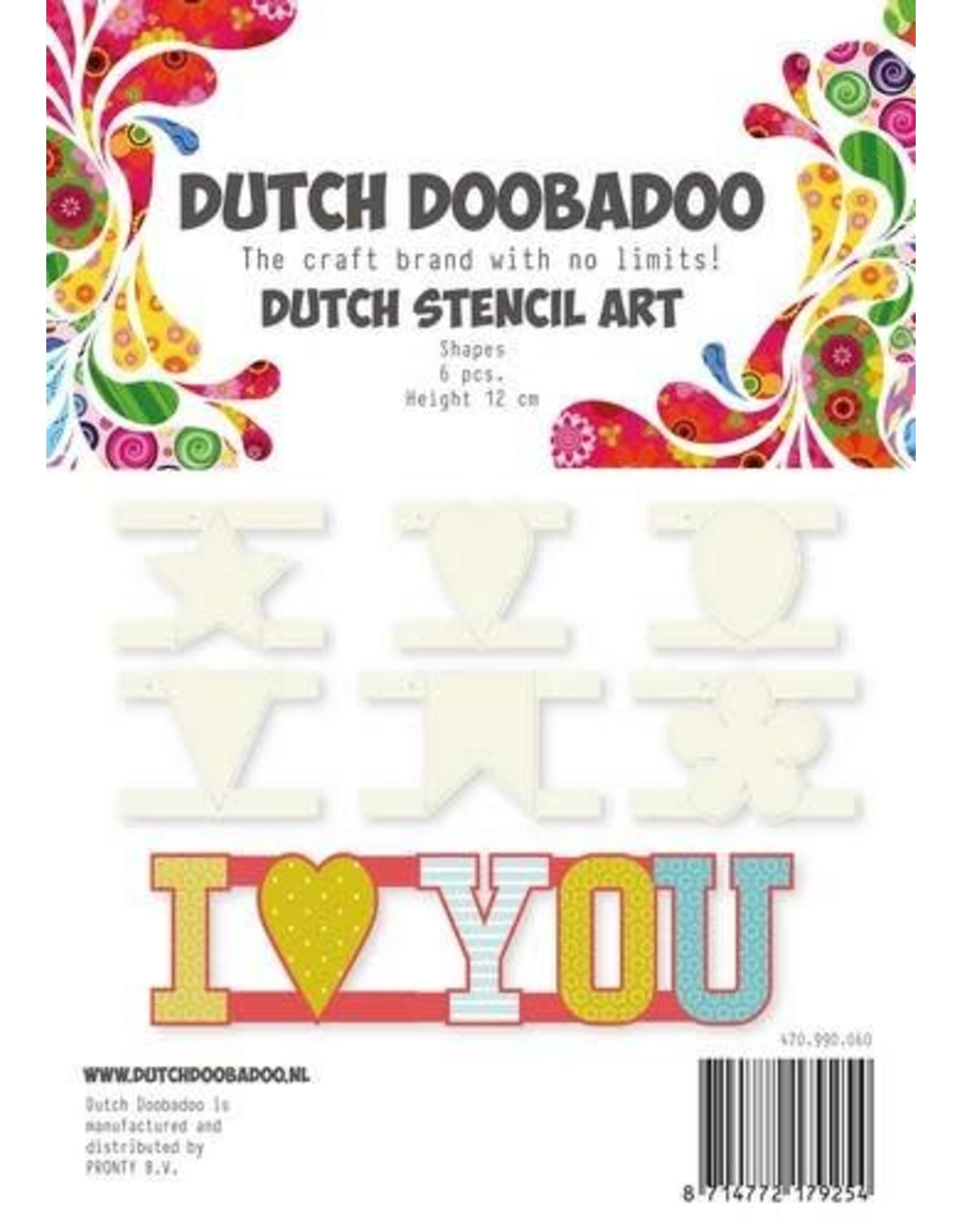 Dutch Doobadoo Stencil Dutch Doobadoo Dutch Stencil Art Shapes 470.990.060