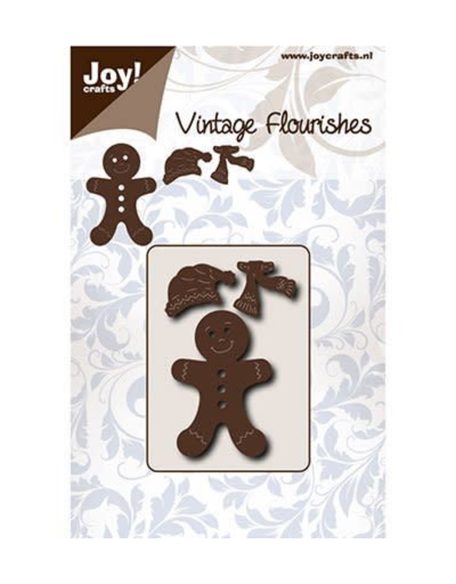 Joy Craft Joy Crafts Vintage Flourishes Gingerbread  mannetje 6003/0076