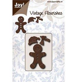Joy Craft Joy Crafts Vintage Flourishes Gingerbread  mannetje 6003/0076