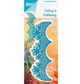 Joy Craft Joy Crafts snijstencil Netrand met bloemen 6002/0974