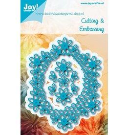 Joy Craft Joy Crafts snijstencil ovaal met bloemen 6002/0975
