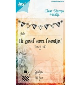 Joy Craft Joy Crafts clearstempel feestje 6410/0081