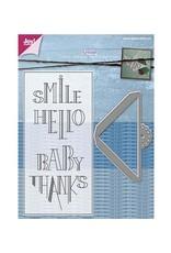 Joy Craft Joy Crafts Stamp + Stencil Schuifhoekje met tekst 6004/0007