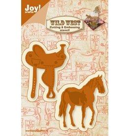 Joy Craft Joy Crafts snijstencil Wild West Paard en zadel 6002/0424