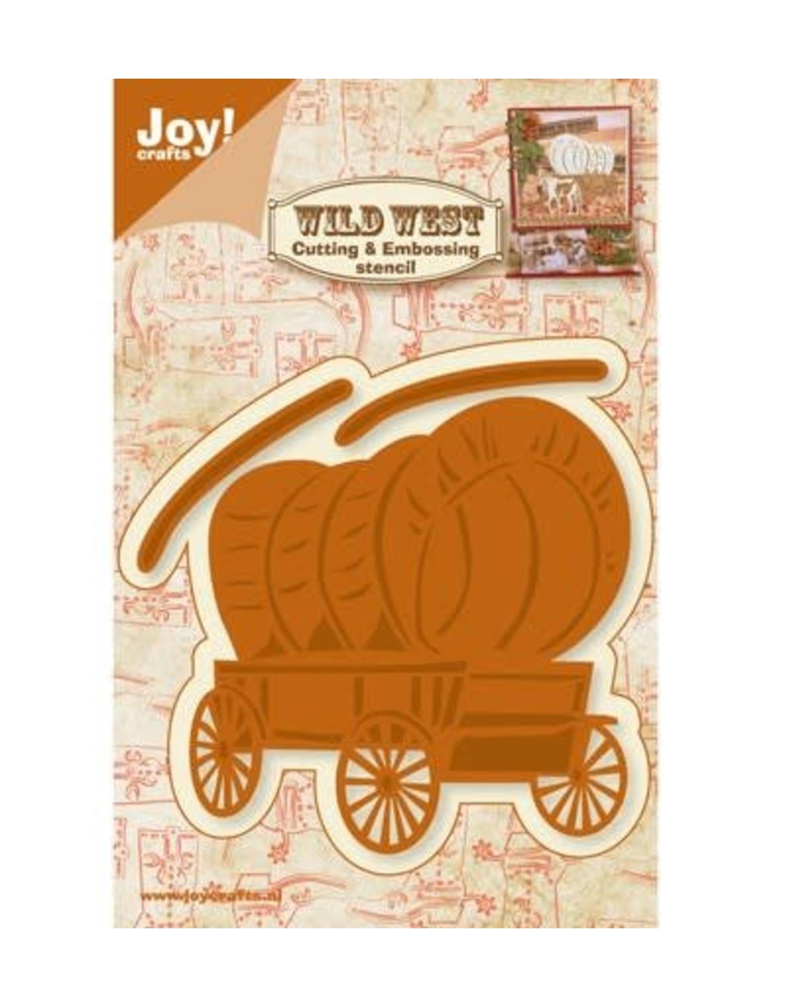 Joy Craft Joy Crafts snijstencil Wild West Huifkar 6002/0422