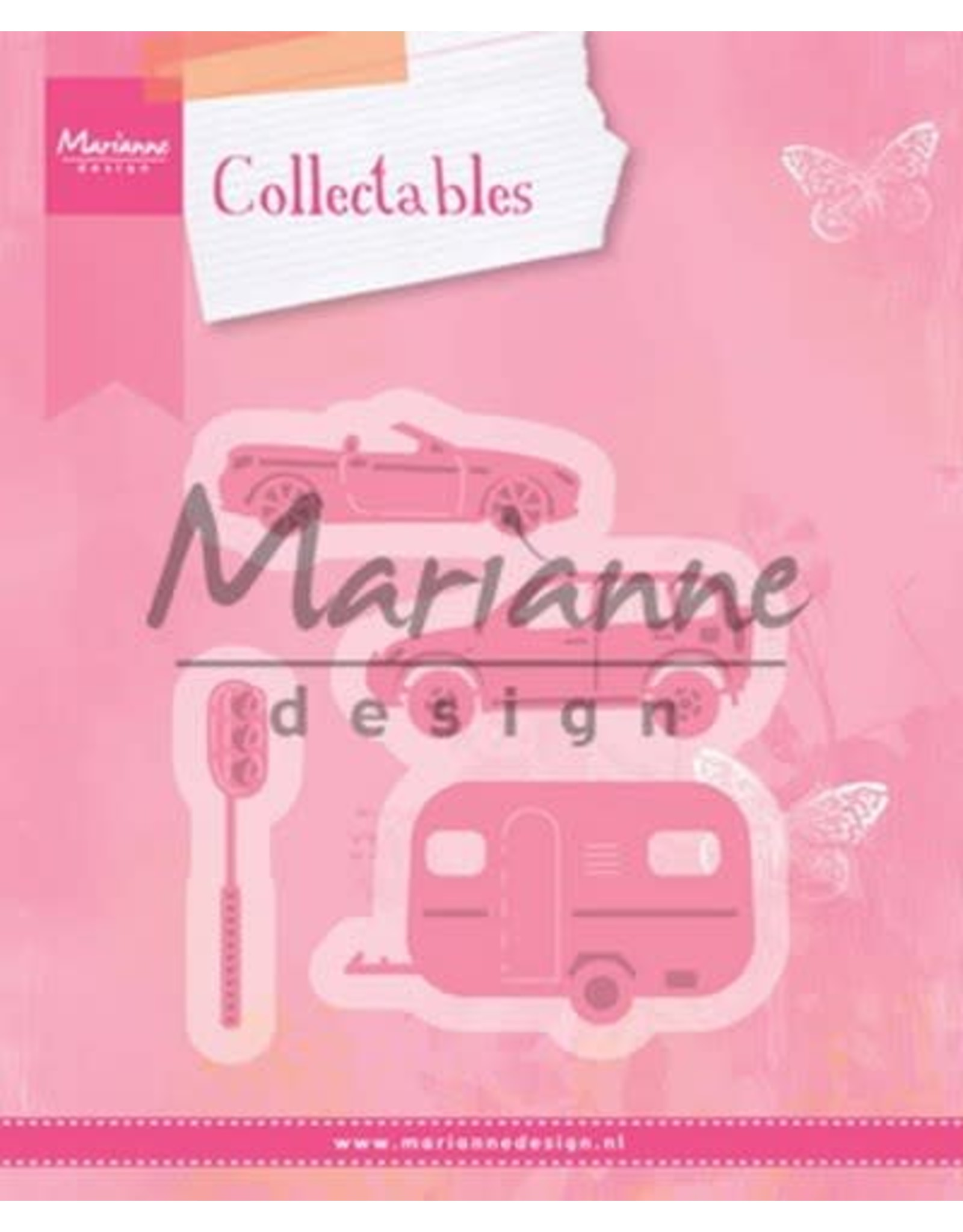 Marianne Design Marianne D Collectable Village decoration set cars COL1435