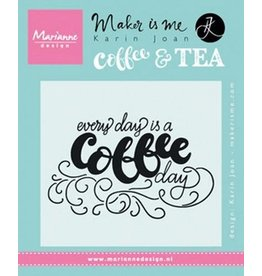 Marianne Design Marianne D Stempel Quote - Every day is a coffee day (EN) KJ1708