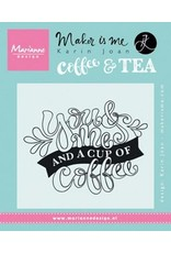 Marianne Design Marianne D Stempel Quote - You & Me and a cup of coffee (EN) KJ1709