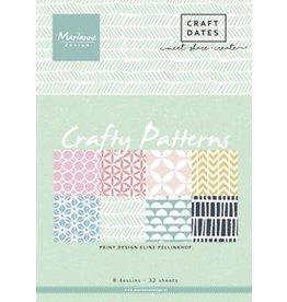 Marianne Design Marianne D Paper pad Crafty Patterns A5 PB7054