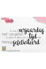 Nellie's Choice Nellies Choice Clearstempel Sentiments - Ik was je verjaardag...(NL) SENCS003