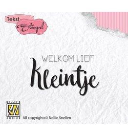 Nellie's Choice Nellies Choice Clearstempel Tekst (NL) - Welkom lief kleintje DTCS013