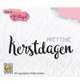 Nellie's Choice Nellies Choice Clearstempel Tekst (NL) - Prettige kerstdagen DTCS014