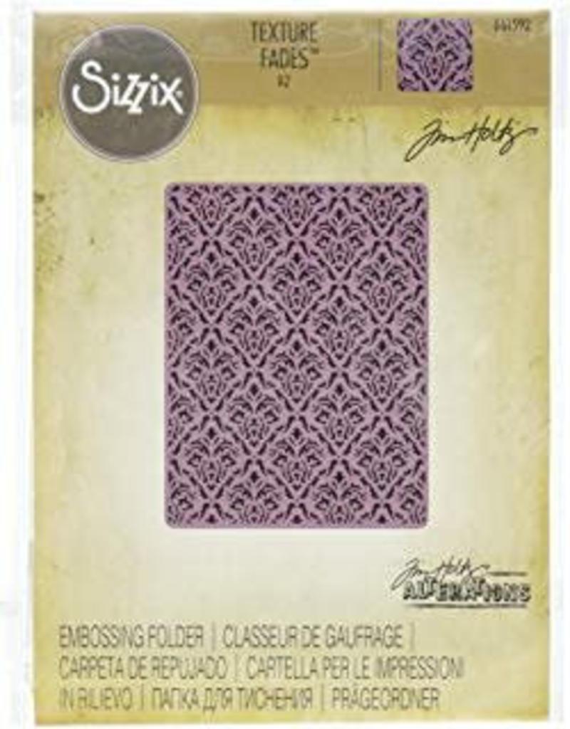 Sizzix embossings folder Sizzix Embossing Folder by Tim Holtz Skull Damask 662390