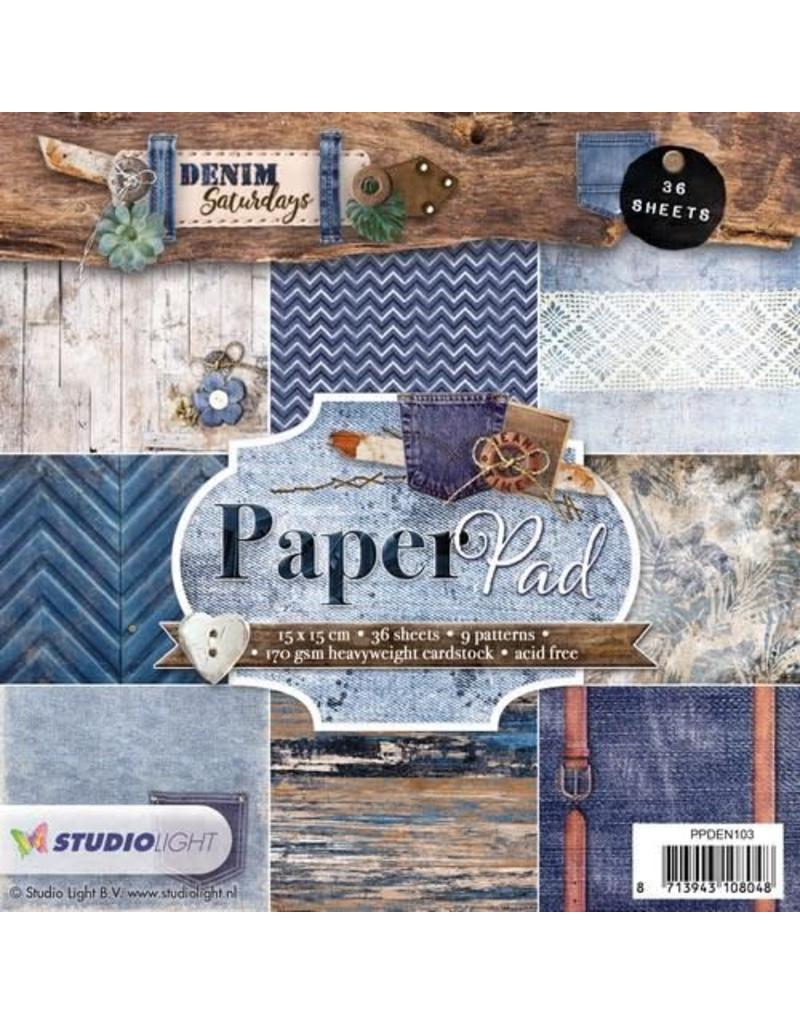Studio Light Studio Light Paper pad 36 vel Denim Saturdays nr 103 PPDEN103