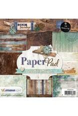 Studio Light Studio Light Paper pad 36 vel Denim Saturdays nr 104 PPDEN104
