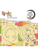 Nellie's Choice DADA Dies with stamp Bunny on moon DDCS001
