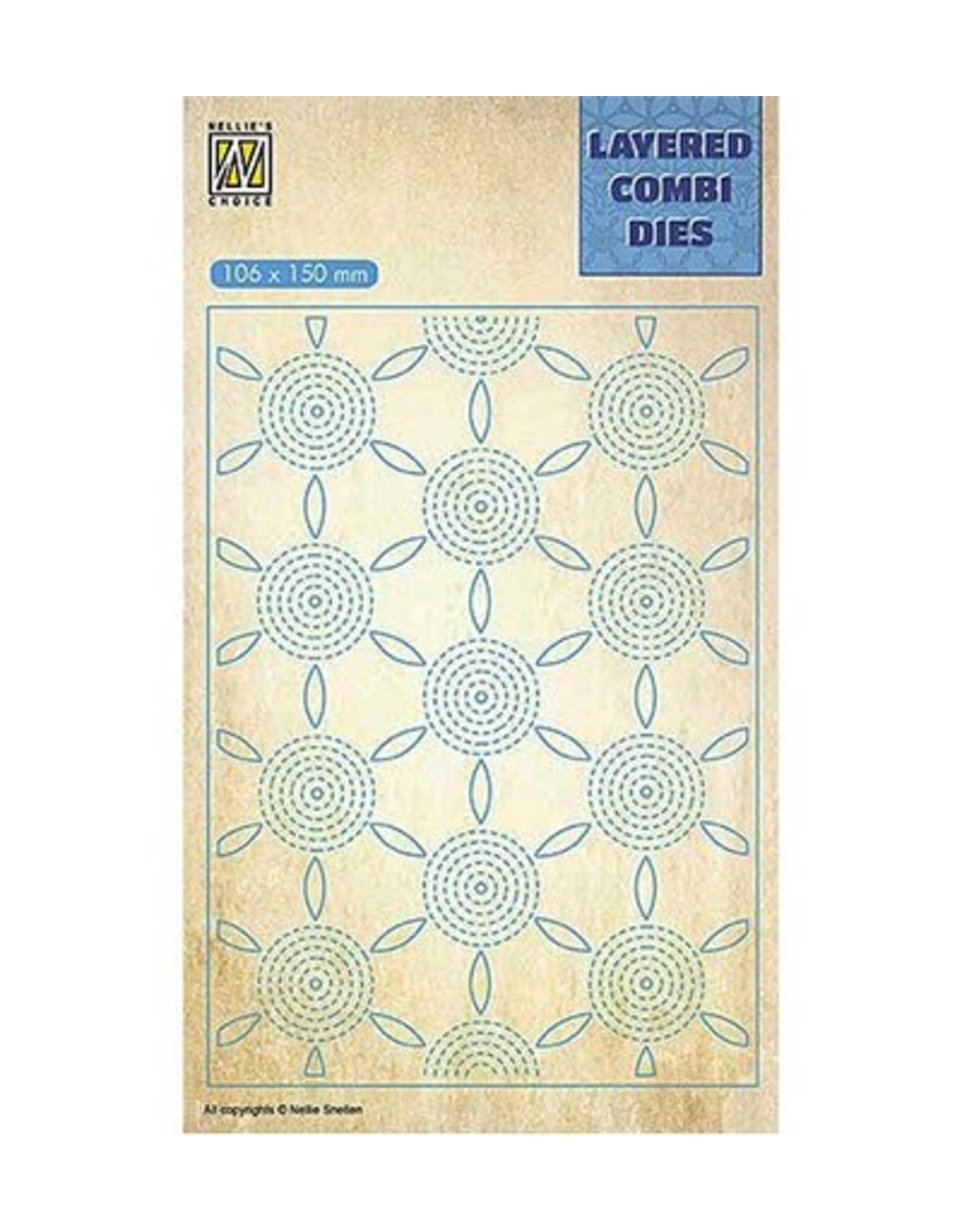 Nellie's Choice Nellie's choice Layered Combi Dies Flower Layer C  LCDF003