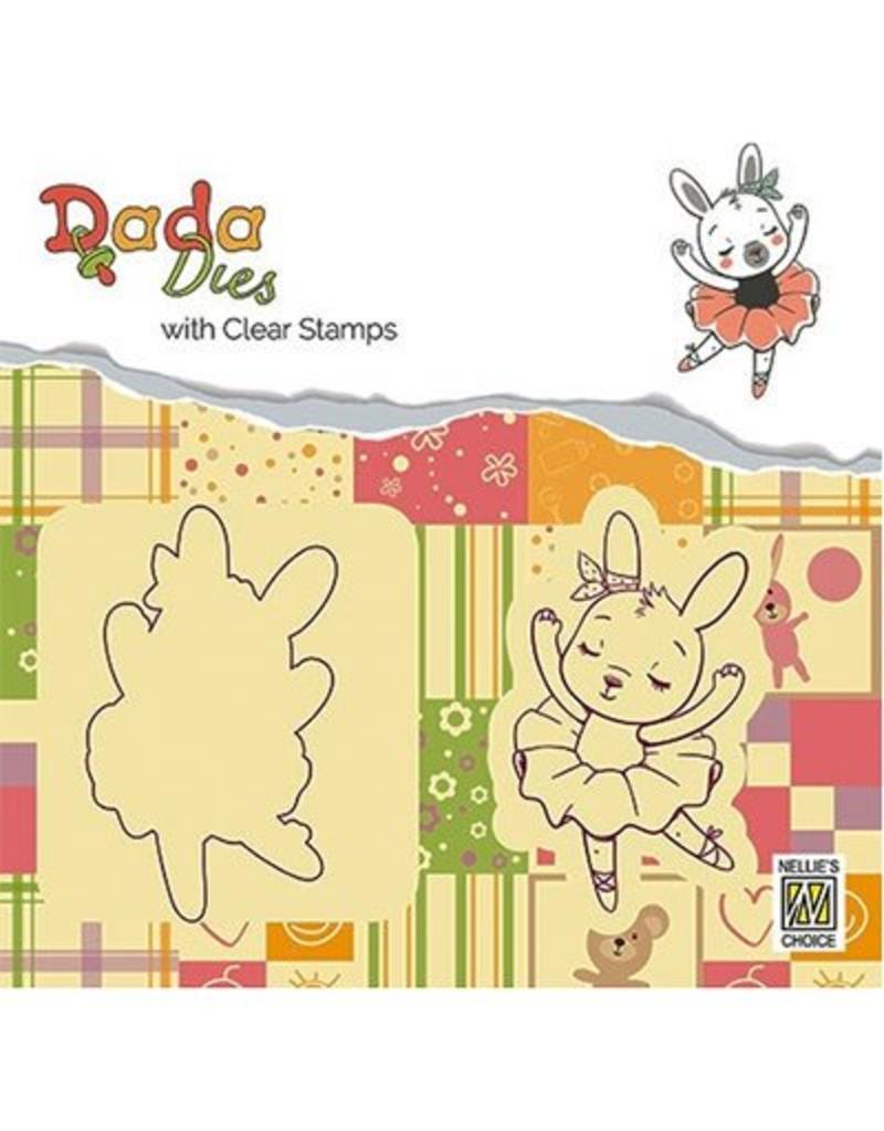 Nellie's Choice Nellie's choice DADA Dies with stamp Bunny ballerina DDCS004