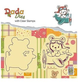 Nellie's Choice Nellies choice DADA Dies with stamp Bear in airoplane DDCS003