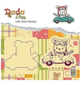 Nellie's Choice Nellies choice DADA Dies with stamp Bear with car DDCS002