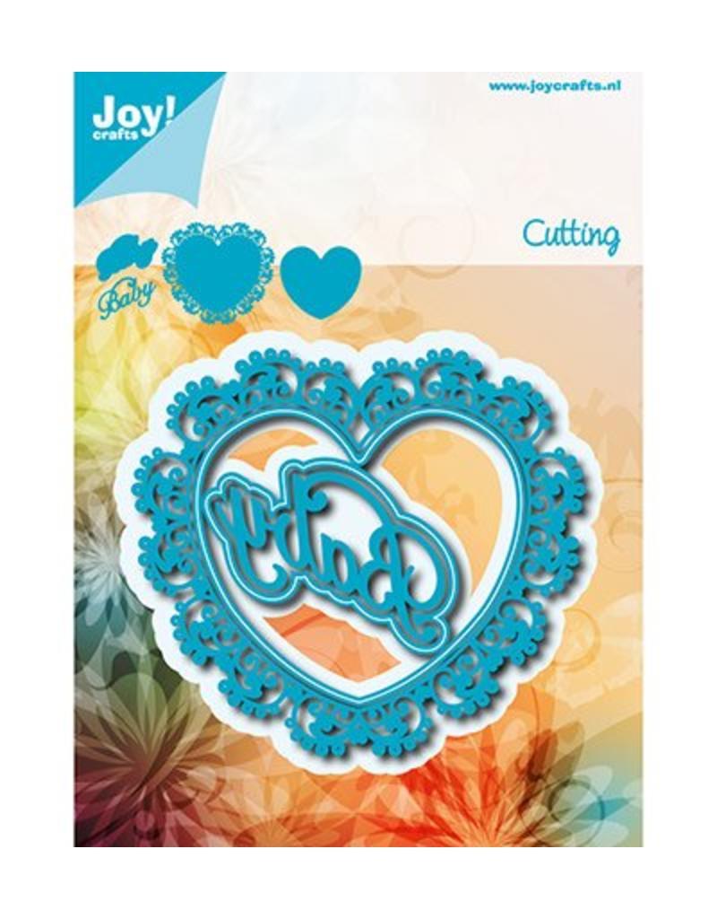 Joy Craft Cutting OmschrijvingSnijstencil - Noor - Hart - Baby Ref.op verpakking6002/1250