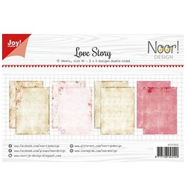 Joy Craft Joy Crafts Papier Set A4 Design Love Story 6011/0600
