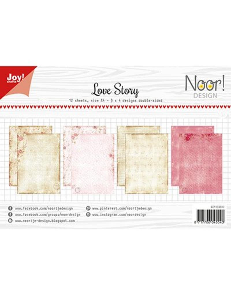 Joy Craft Joy Crafts Papier Set A4 Design Love Story 6011/0600