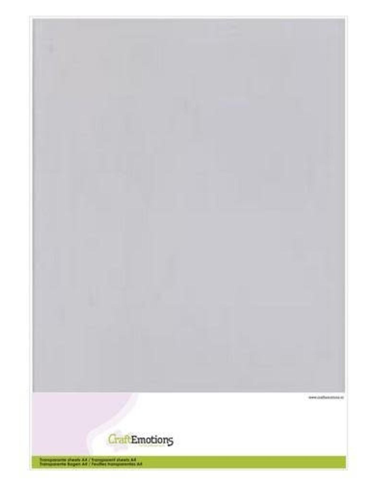 Craft Emotions CraftEmotions Transparante sheets A4 1PK/5VL